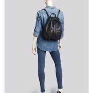RARE Annabel Ingall Nico Black Leather Backpack